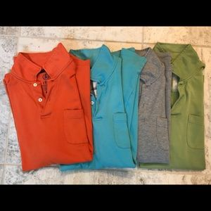 Izod cotton polos mens size large (lot of 4)
